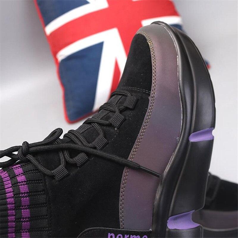 cdc51a4ad Negro Niña Malla Plataforma Negro Zapatos Zapatillas Señora púrpura Casuales  Nuevos Deporte Otoño Marca Mujer Chaussure Blanco De Para Calzado Moda  Mujeres ...