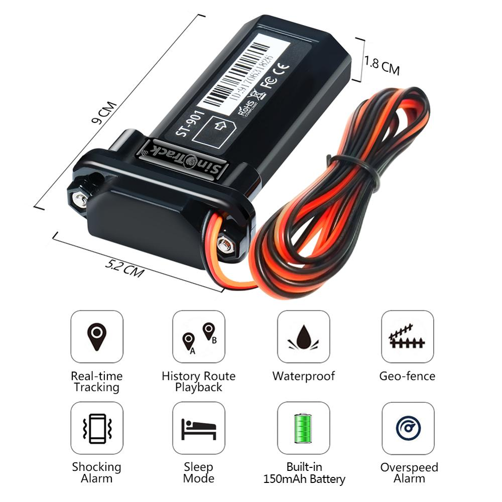 Image 2 - Mini Waterproof Builtin Battery GSM GPS tracker ST 901 for Car motorcycle vehicle 3G WCDMA device with online tracking software-in GPS Trackers from Automobiles & Motorcycles