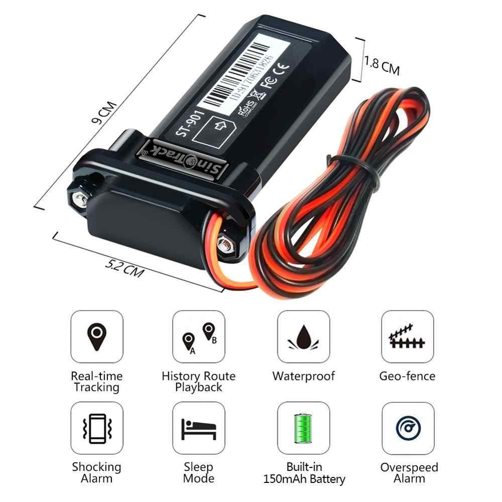Mini su geçirmez dahili pil GSM GPS izci ST-901 araba motosiklet araç 3G WCDMA cihazı ile online izleme yazılımı