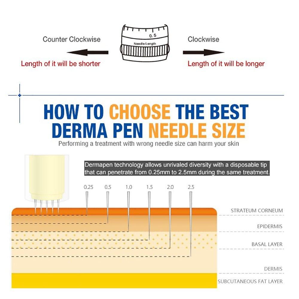 Bayonet Dr Pen Needle Cartridge Needle Tips Exfoliate Shrink Pores Device