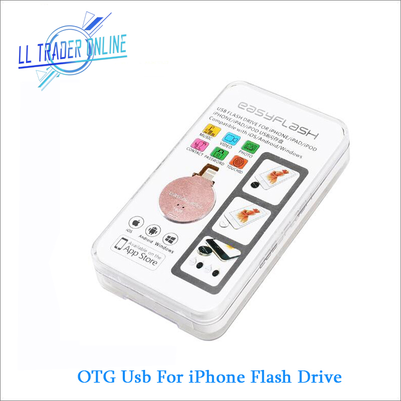 цена на LL TRADER 64GB i-Flash Drive USB OTG Memory Stick For iPhone 7 Plus iPad Air Mini PC iOS USB Flash Drive Storage US/UK/AU/DE/RU