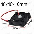 10Pcs Lot 2pin 12V Black Plastic Brushless DC Cooling Cooler Fan 4CM 40MM 40x10MM High Speed 7000RPM