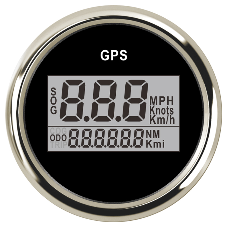 2'' 52mm Waterproof Digital GPS Speedometer Odometer For Car Boat With Backlight 12V/24V Car Speed Gauge GPS Antenna LCD universal 85mm car gps speedometer digital lcd speed gauge knots compass with gps antenna for boats motorcycle
