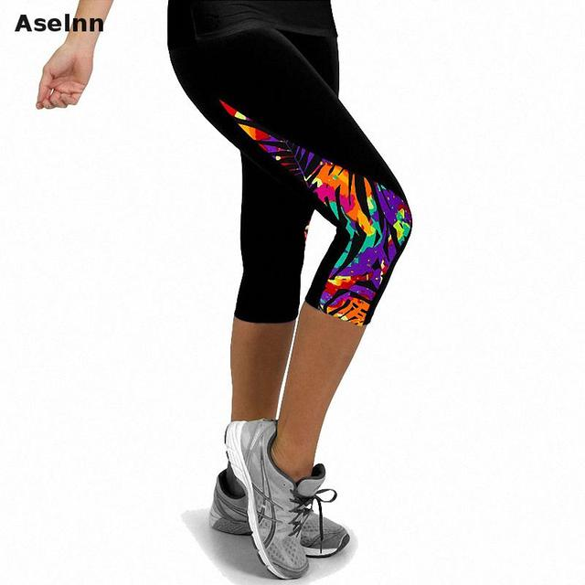 Aselnn 2019 New Fashion Women Capri Leggings High Waisted Print Female Pants Fitness Pants Pants For Women(11 Colors)