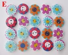 WBNSWE 120pcs Round Buttons wooden Sunflower Pattern Dia 2cm kids shirt button sewing supplies