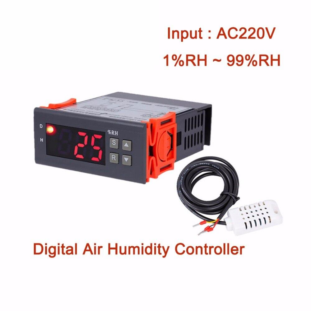 Feuchtigkeit Meter 10a 220 V Mini Digital Thermostat Hygromstat Luft Temperatur Controller Messbereich 1%-99% Mit Sensor Messung Und Analyse Instrumente