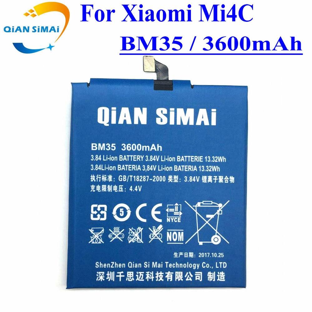 Цянь Симаи 1 шт. новые qualitey <font><b>bm35</b></font> Батарея + Отвёртки инструменты 3600 мАч Резервное копирование Батарея Для Сяо mi 4c Mi 4c телефон