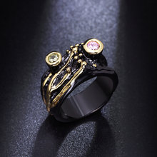 Новое дизайнерское кольцо в виде ветки ювелирные изделия с круглым