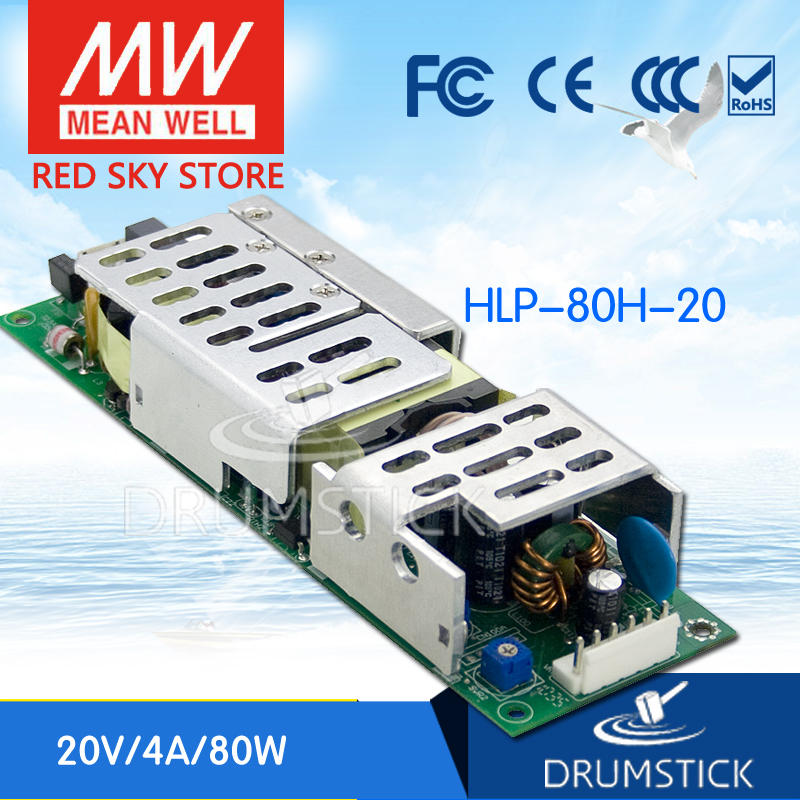цена на MEAN WELL HLP-80H-20 20V 4A meanwell HLP-80H 20V 80W Single Output LED Driver Power Supply