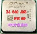 Бесплатная доставка для AMD AM3 Phenom II X4 840 3.2 Г 3.2 настольных ПК ПРОЦЕССОР тактовая частота