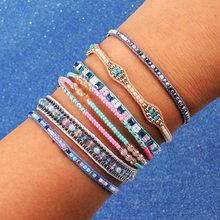 Artilady Woven Beads Friendship Bracelets for Women Handmade Charm Wrape Bracelet Boho Colorful Bracelet Jewelry Gift(China)