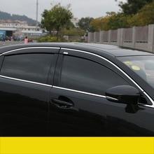 lsrtw2017 ppma material car window rain shield for lexus es200 es250 es300h 2012 2013 2014 2015 2016 2017 2018 xv60
