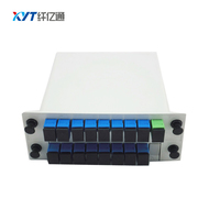 Low Insertion Loss And Low PDL Wide Operating Wavelength 1 16 Optical Splitter With SC PC