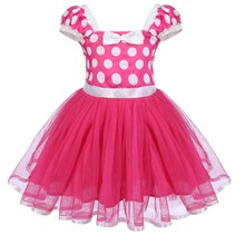 цены на Baby Kid Girls Cute Minnie Dress Birthday Party Tutu Princess Dress Cosplay Polka Dot Minnie Mouse Dress Casual Girls Dress 1-5Y  в интернет-магазинах