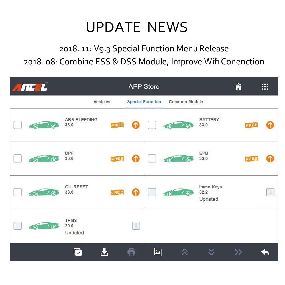 Ancel X5 Easydiag Wifi Diagnostic Scanner Automotive Full System Car  Diagnostic Tool OBD2 Scanner Service Reset EPB ABS SRS Tool