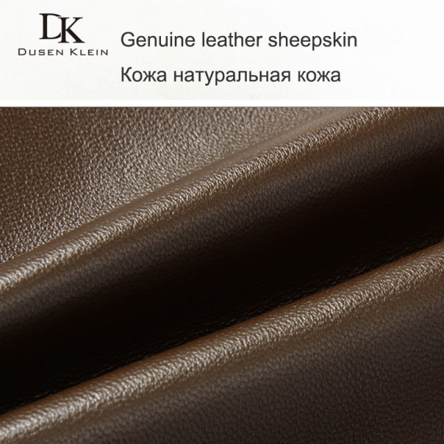 menn Genuine Leather Jacket Høst Yttertøy Svart / Slim / Simple Business Style / Saueskinn Coat