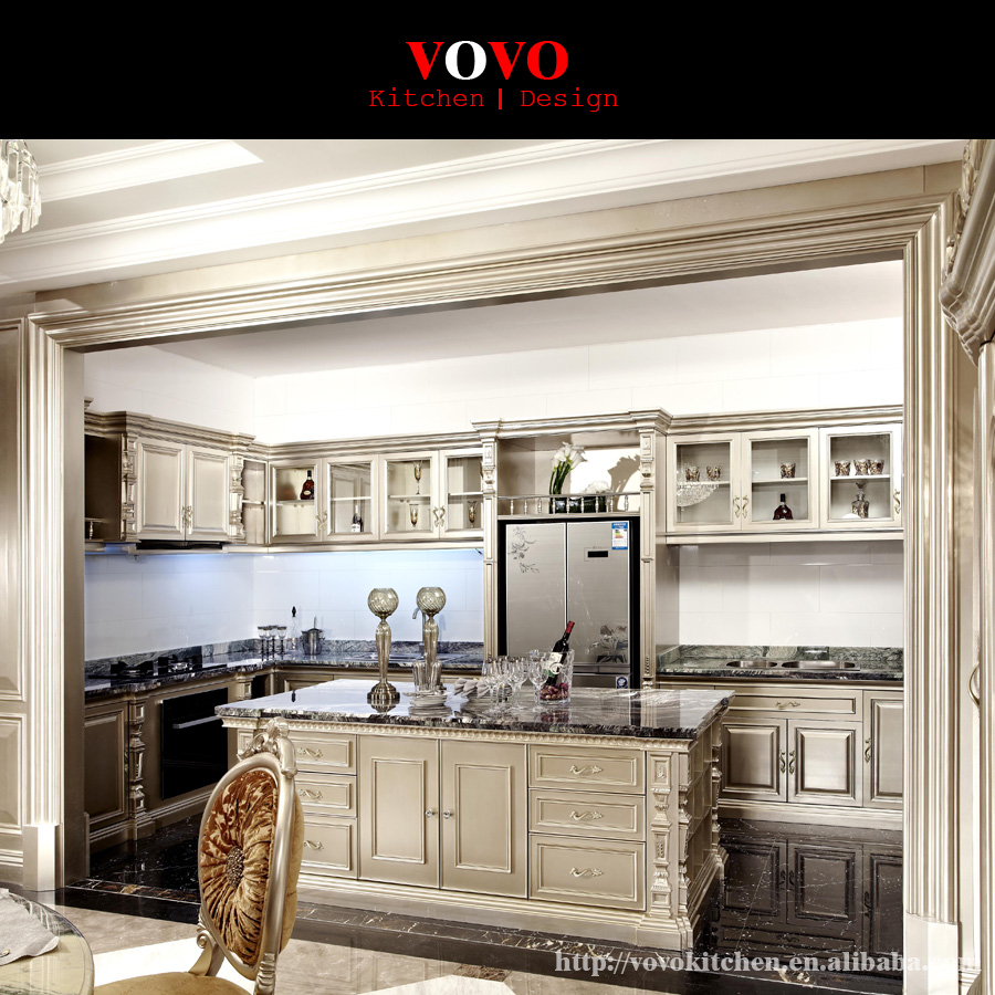 Classic Cherry Solid Wood Kitchen Cabinets And Granite