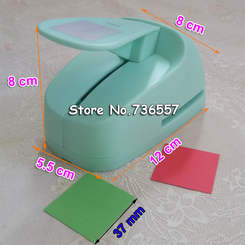 Free Shipping 2 inch 37mm Square EVA foam punches paper punch for greeting card handmade DIY scrapbooking craft punch machine free shipping 10pcs bag 2mm thickness craft punches child sticker single sided adhesive glitter eva foam sheet eva sponge