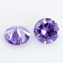 20pcs Round Shape White a Hole Gems Loose CZ stone for Jewelry Diy 12 colors Pink Red Yellow Black