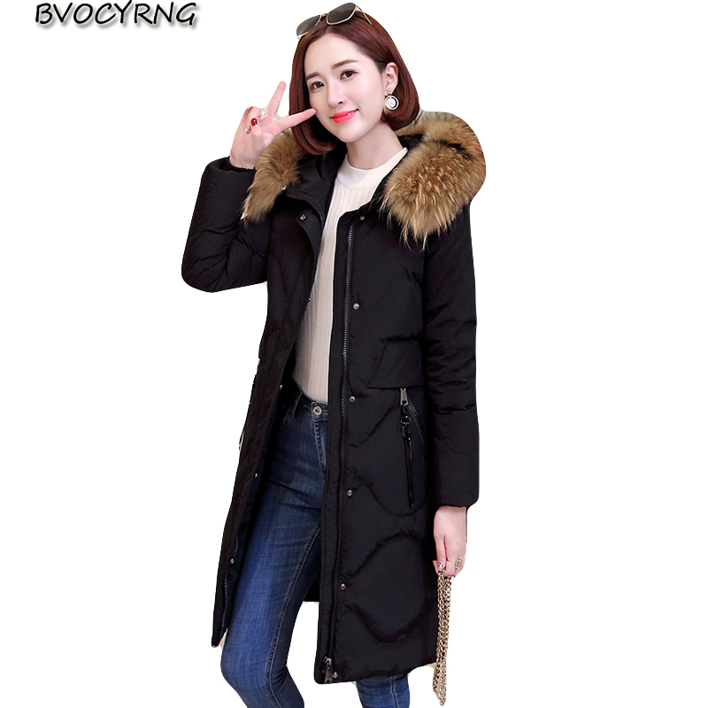 New High end   Down   jacket Women Winter parka Large size Leisure Tops Hooded clothing Thick Warm White duck   down     Coat   Female slim