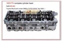 908 883 1KD-FTV Komplette Zylinderkopf Montage ASSY Für TOYOTA Land Cruiser Hilux 3.0L TDI 16 v 1110130030 1110130031 1110130032