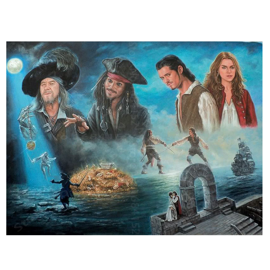 5D DIY Diamond Painting pirates of the caribbean Diamond Embroidery Cross Stitch Painting Rhinestone Decoration needlework A478