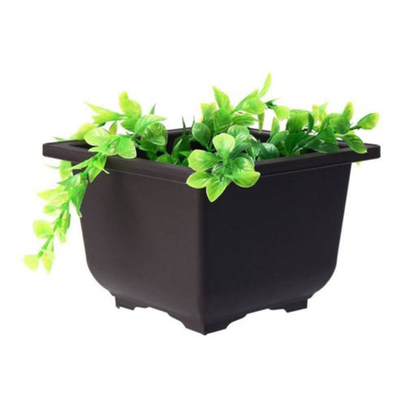 Nordic-style Flowers Bonsai Pots With Tray Plastic Balcony Square/Rectangle Plants Bowl Nursery Pots Balcony Garden Supplies