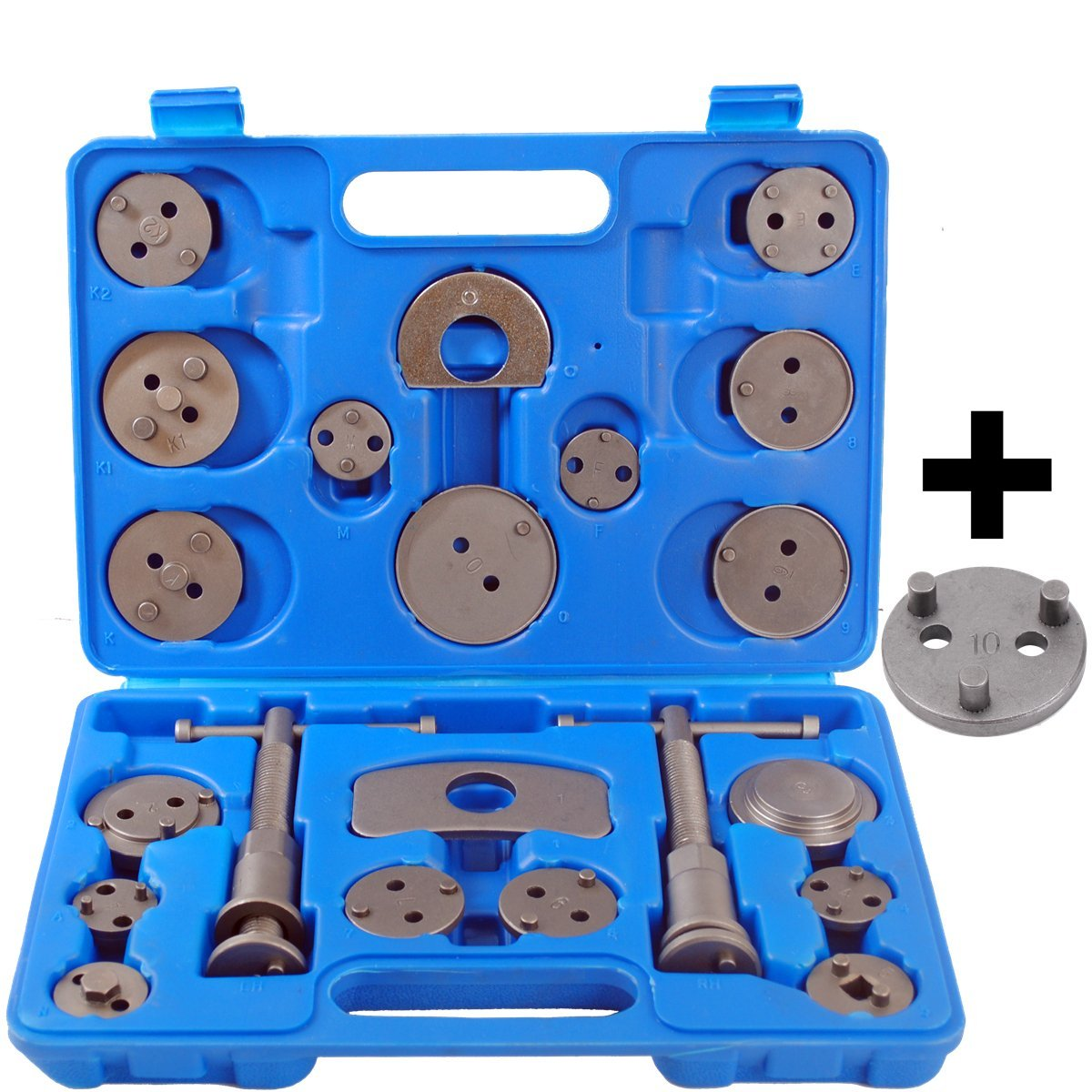 22 Pieces Universal Car Disc Brake Caliper Wind Back Brake Piston Compressor Tool Kit For Most Automobiles Garage Repair Tools goxawee 13pcs universal car disc brake caliper wind back brake piston compressor tool for car automobiles garage repair tools