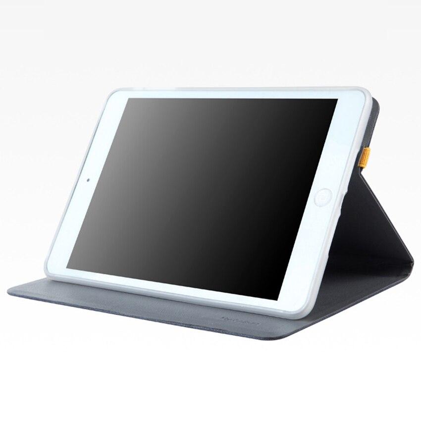 For iPad mini 2 3 A1432 A1454 Cloth Leather Case Cover Slim 7.9 Protective Stand for Apple iPad mini2 mini 3 Smart Tablet Skin