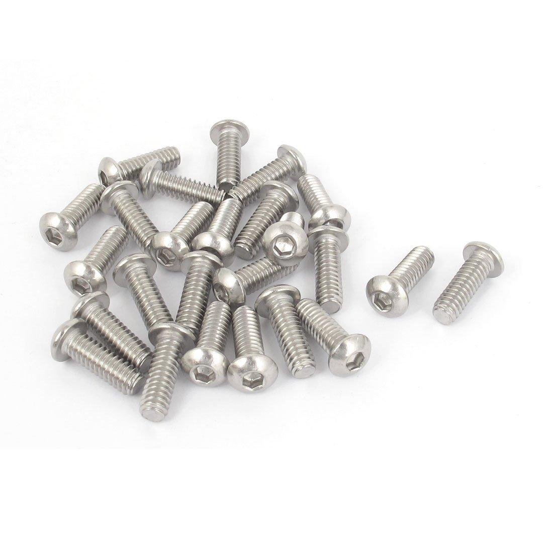 1/4 Inch-20x3/4 Inch Hex Socket Button Head Bolts Screws 25pcs 20pcs m3 6 m3 x 6mm aluminum anodized hex socket button head screw