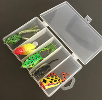 Hot Sale Fishing Lure Mixed 5 Designs Colors Frog Lure Mini Mouse Bait Soft Hollow Body