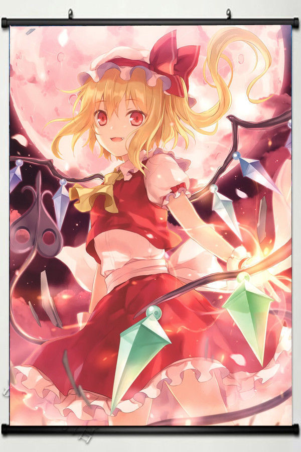 Anime touhou flandre scarlet Cosplay Scroll Poster Home Decor Oatku Gift 60*90cm