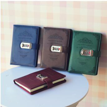 Password book with lock diary notebook notebook business creative stationery notebook retro style цена
