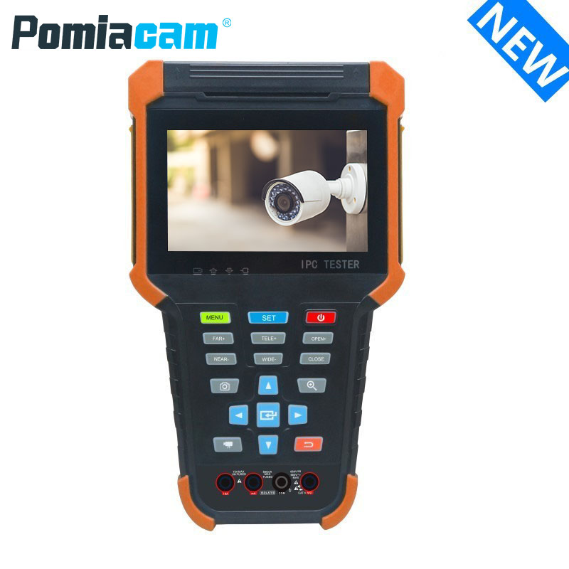 X4 Portable Camera Tester Monitor CCTV Monitor Support SDI+IP+Analog+AHD+CVI+TVI+UTP Cable Test+RJ45 Cable TDR Test+HDMI In