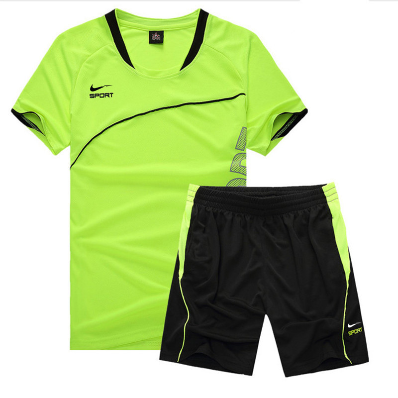 2019 Just Basketball Football Do Sportswear It Bright Green Tracksuit T-shirt shorts Joggers Track Suit Sets Plus Size M-5xl Men's Clothing