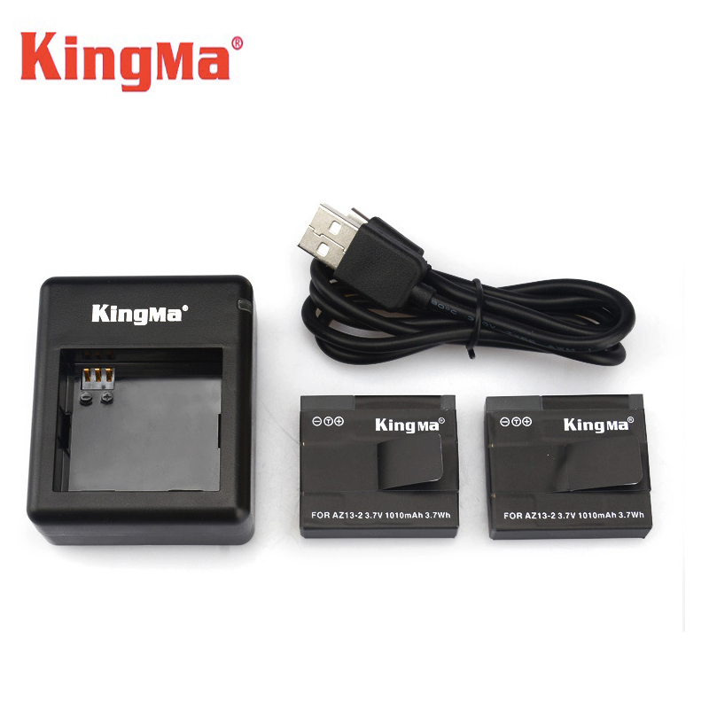 Original Kingma Battery for Xiaomi YI Battery Dual USB Charger AZ13-2 for yi Xiaomi Yi Action Camera International Version