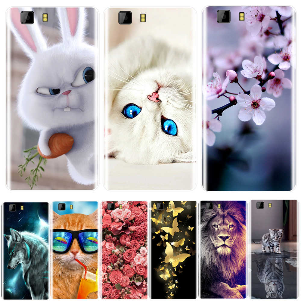 Phone Case For Doogee X5 5.0 Inch Soft Silicone TPU Cute Cat Painted Back Cover For Doogee X5 Pro  Case