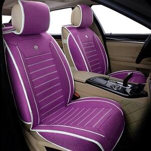 Image 5 - Универсальные льняные чехлы на автомобильные сиденья для Toyota Corolla Camry Rav4 Auris Prius Yalis Avensis SUV Автомобильные аксессуары Автомобильные палочки автомобильные сиденья