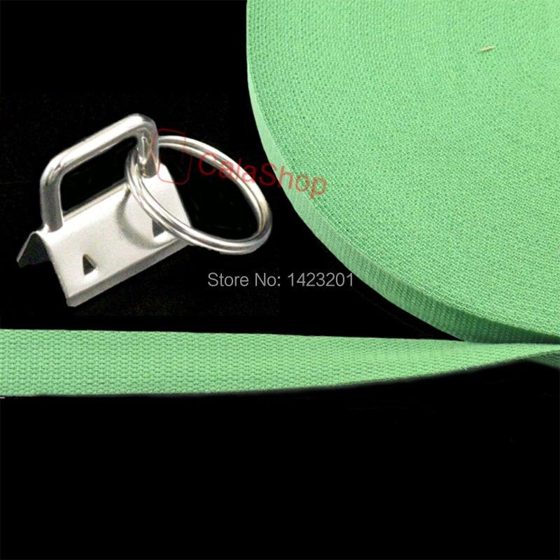 10 Pz/lotto 25mm Chiave Fob Portachiavi Con 5 Yards/Lot Cotone della Tessitura del Nastro Per La Borsa Fibbie Per Cinture clip