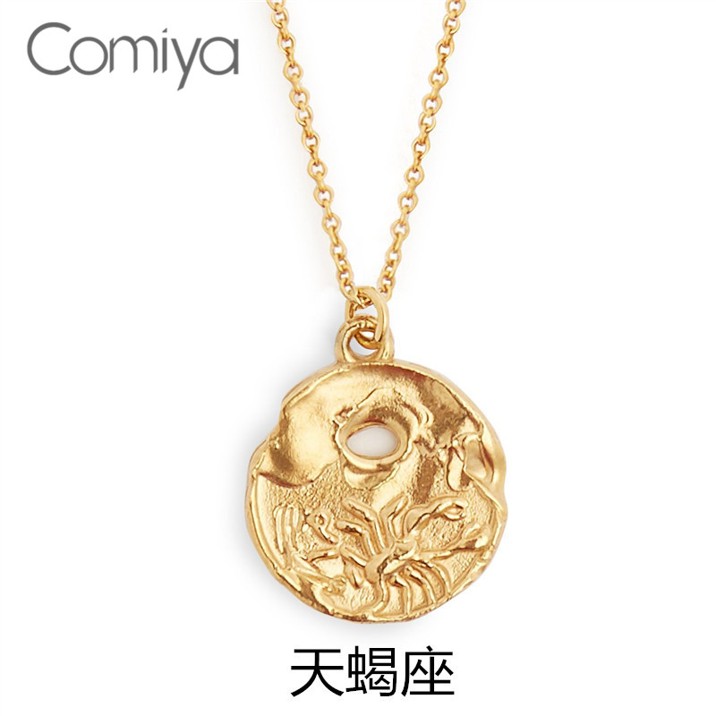 32c956190b36 Detail Feedback Questions about Comiya Fashion Long Necklaces Scorpio Of  Constellation Pattern Big Pendant Zinc Alloy Gold Color Europe Designed  Accessories ...