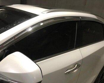 ABS Chrome plastic Window Visor Vent Shades Sun Rain Guard car accessories for LEXUS NX200 NX300 NX300h 2015 - 2019 car styling