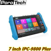 IPC-9800plus 7 inch IPS touch scree 1280*800 resolution Analog+IP+AHD+CVI+TVI+SDI 6 in 1 Multifunction cctv tester