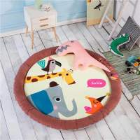 140cm Round Baby Playmat Cartoon Animal Baby Activity Mat Large Baby Early Developing Mat Elephant Activity Gear for baby