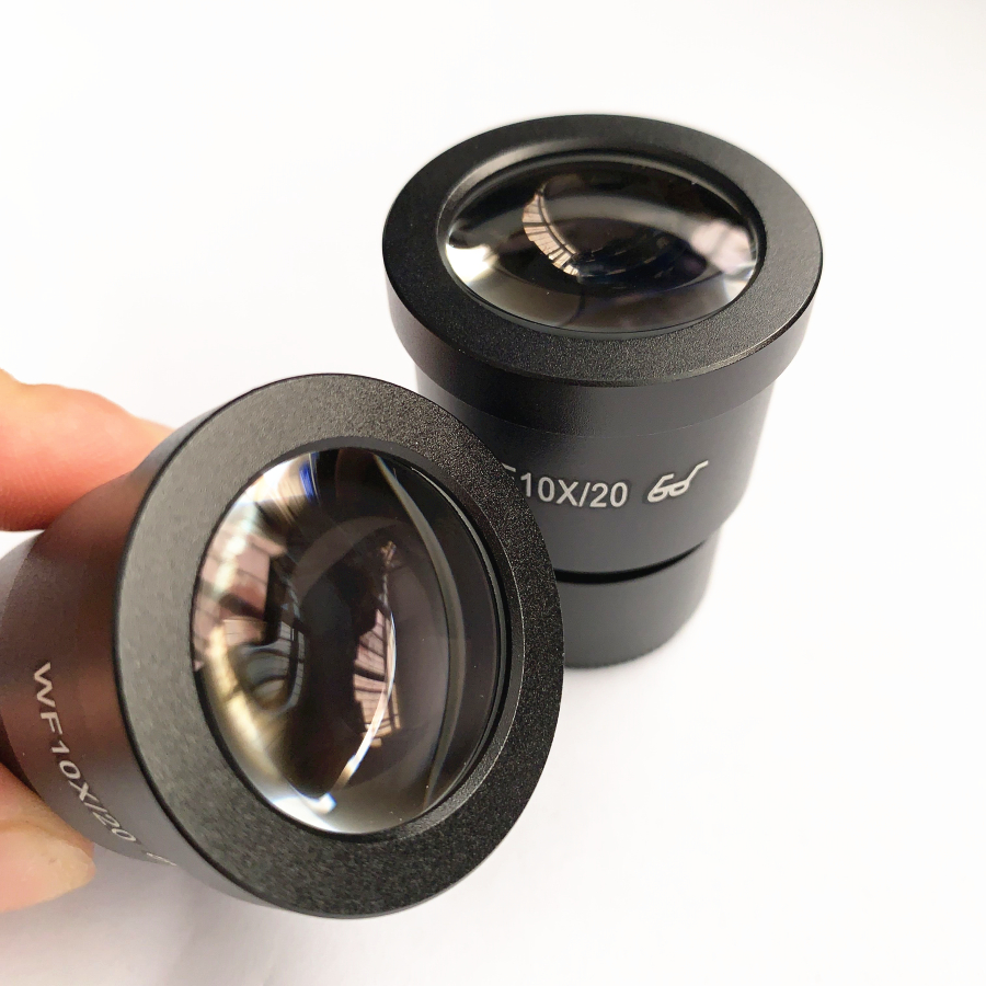 2 PCS Wide Field Eyepiece WF10X 20mm Microscope Wide Angle Eyepiece 30mm Mounting Interface Eyepiece For Stereo Microscope