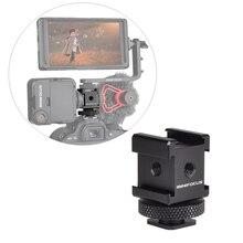 3 קר נעל על מצלמה לשלושה נעל הר מתאם להאריך יציאת עבור Canon ניקון DSLR מצלמה עבור מיקרופון צג LED וידאו אור