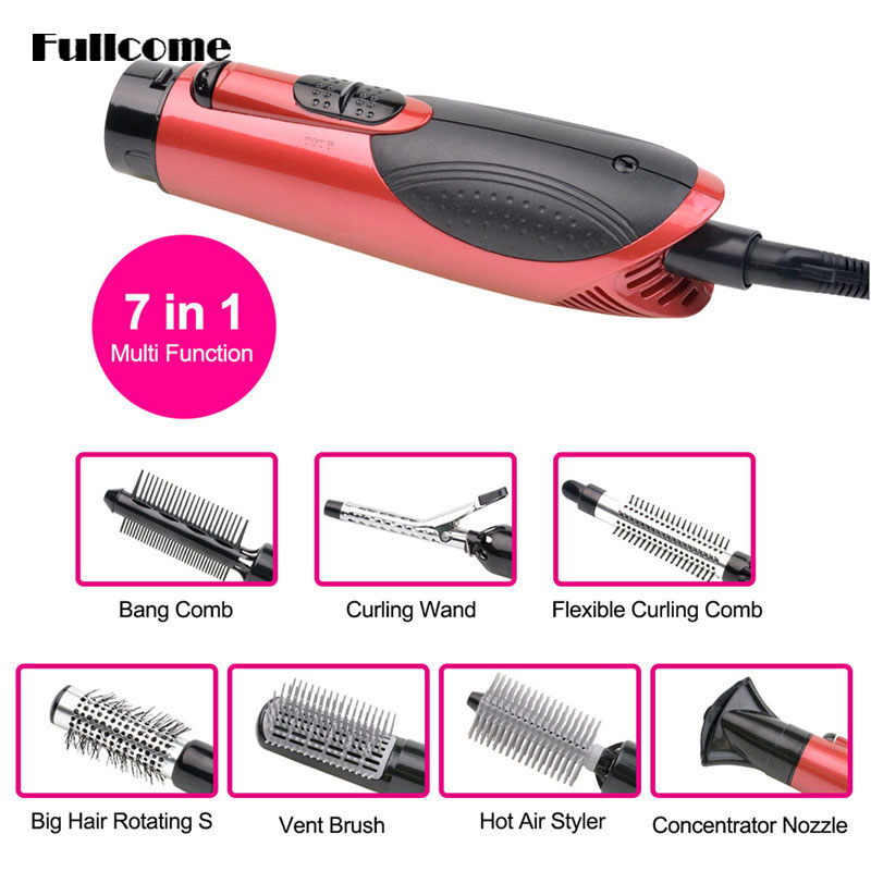ФОТО 7-in-1 Multifunctional 800W Styling Electric Hair Dryer Hairdryer Set Hair Curler/Straightening Irons Styling Tools HS09-47C