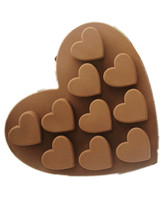 love Heart shaped silicone cake mold baking Fondant chocolate soap Silicone molds DIY Craft Bath Soap Making Mould