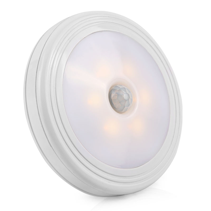 LED Night Light PIR Motion Sensor Round LED Cabinet Light