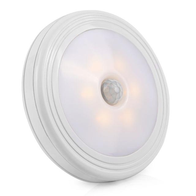 LED Night Light PIR Motion Sensor Round LED Cabinet Light Wall Lamp  Lighting By 3A Battery