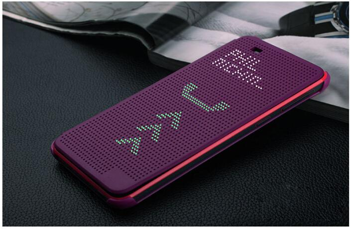 save off 79599 6ffdd US $4.1 5% OFF|Hot Sell Luxury Ultra Flip Smart Slim Dot View Case Cover  For HTC Desire 820 D820us d820u sleep function dot phone cases-in Flip  Cases ...